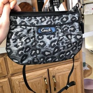 Coach Cheetah print cross body purse